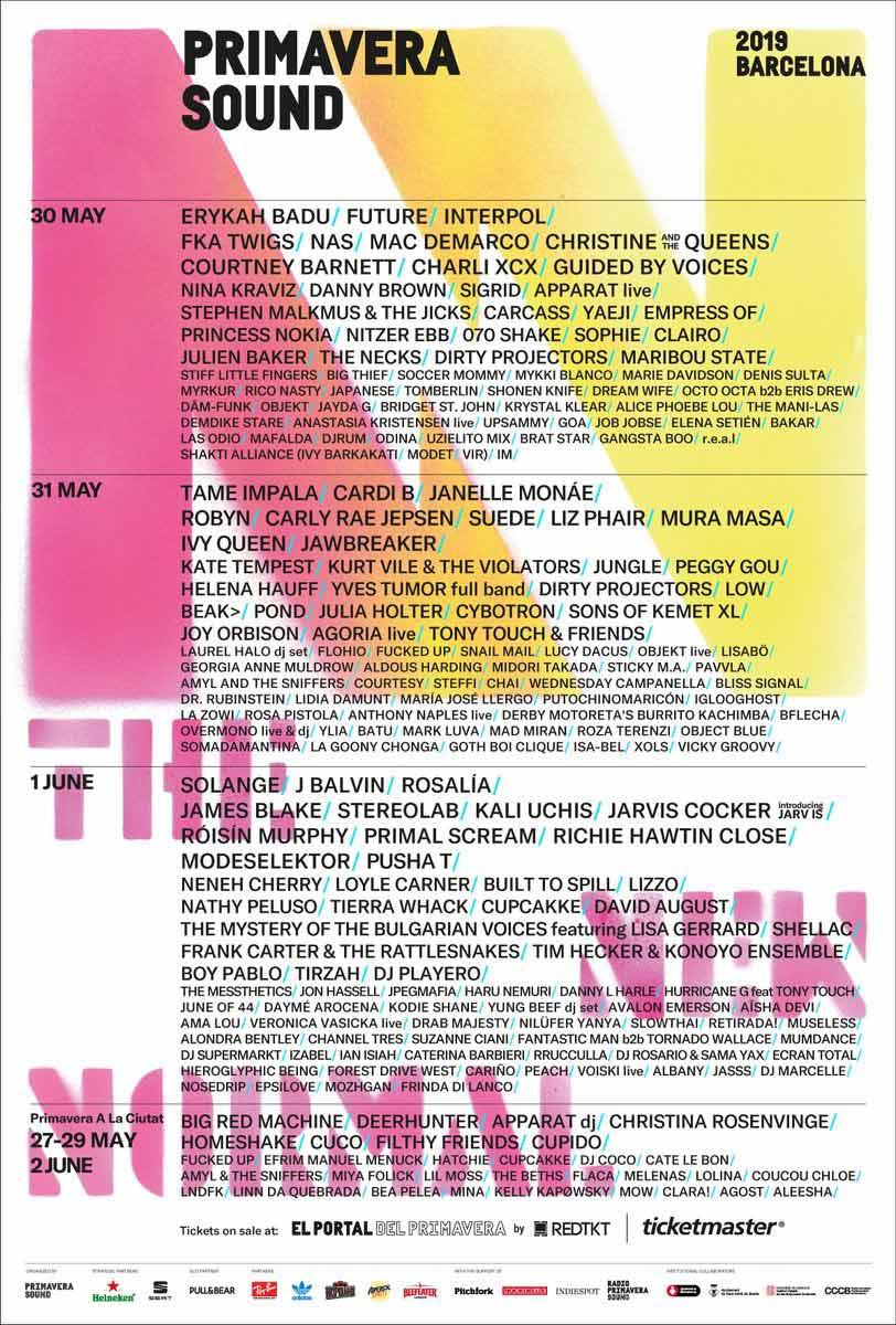 primavera sound cartel 2019