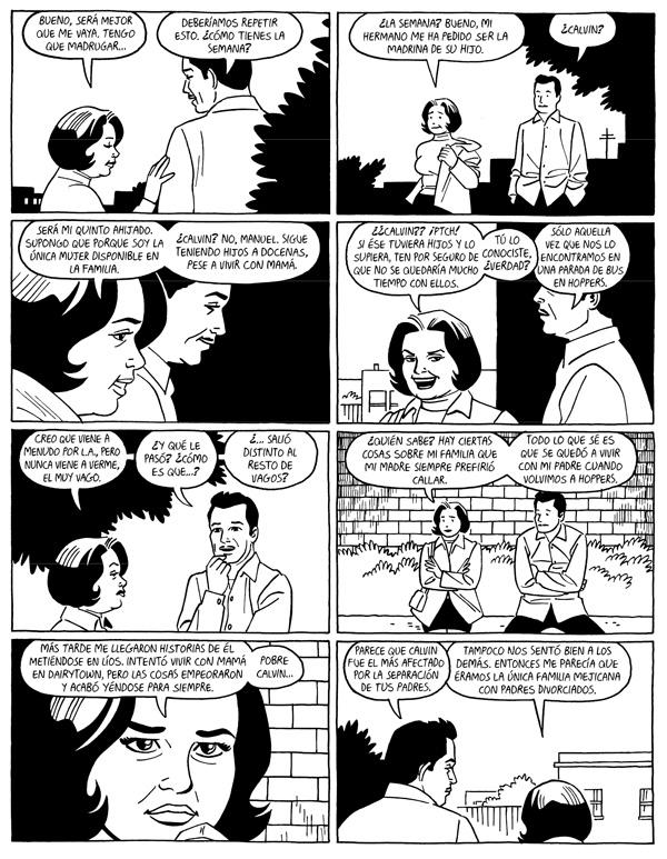 """Página de """"Chapuzas de A amor"""" de Jaime Hernández (La Cúpula, 2015)"""