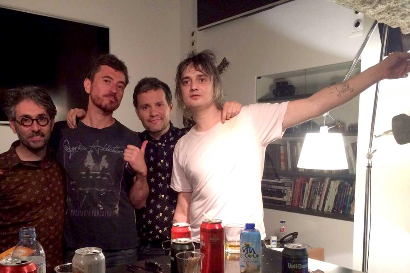 Pete Doherty graba en Barcelona