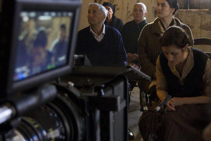Durante el rodaje de 'La Tierra Muerta' de Sergio Duce