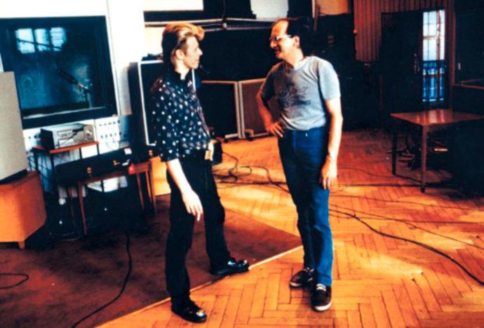 Bowie en los estudios Hansa