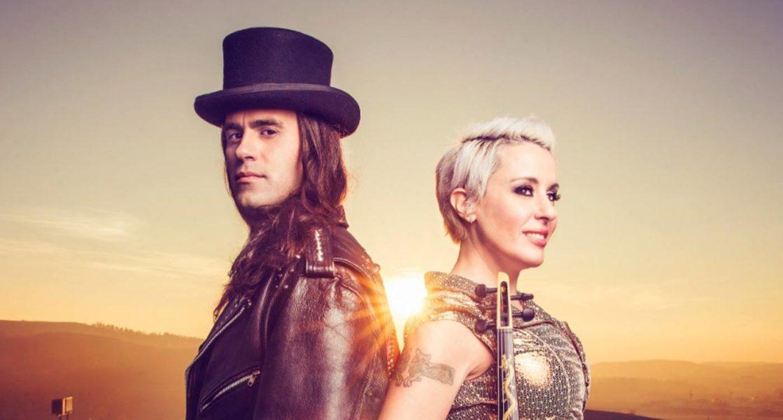Los músicos Chusé Joven y Judith Mateo