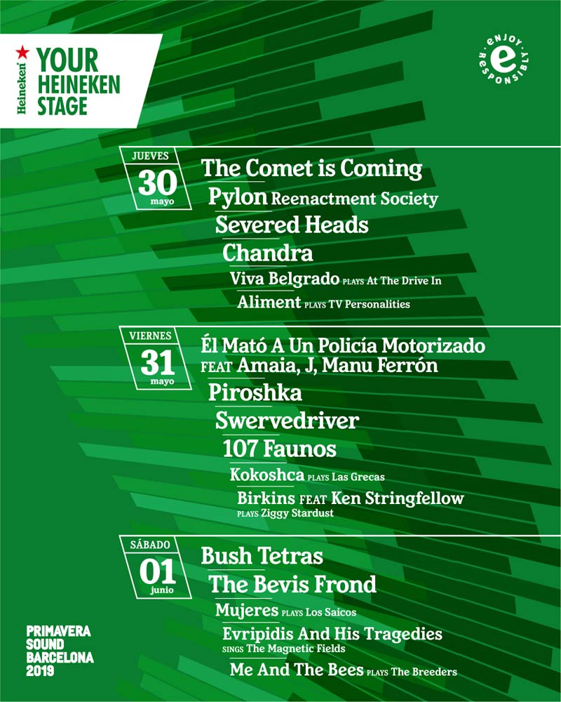 Your Heineken Stage Primavera Sound 2019