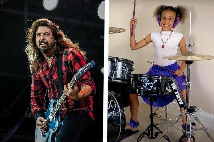 Dave Grohl y y la joven Nandi Bushell escribirán una canción juntos