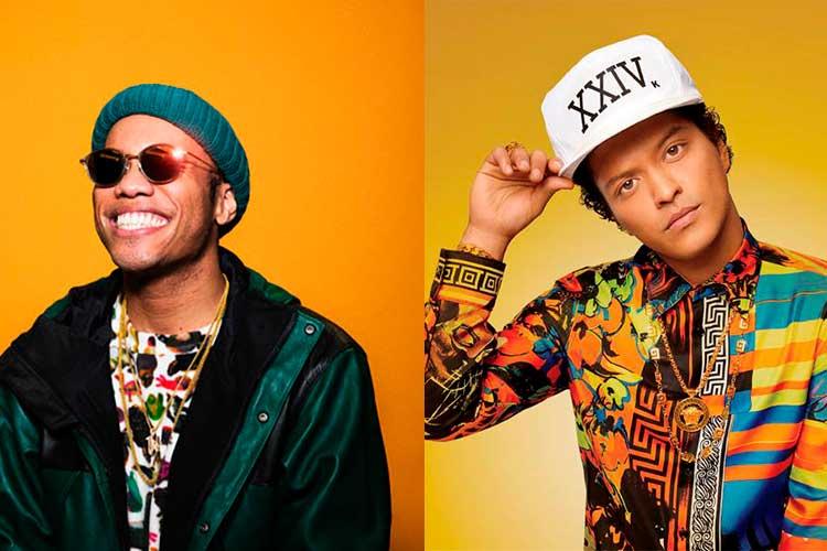 Bruno Mars y Anderson .Paak actuarán en la gala de los Grammy 2021