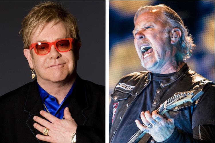 Elton John confirma que ha estado trabajando con Metallica y Gorillaz